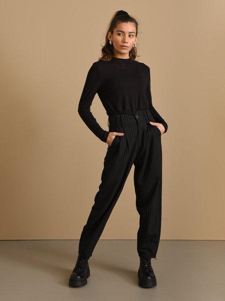 24Colours Trouser Pinstripe Black