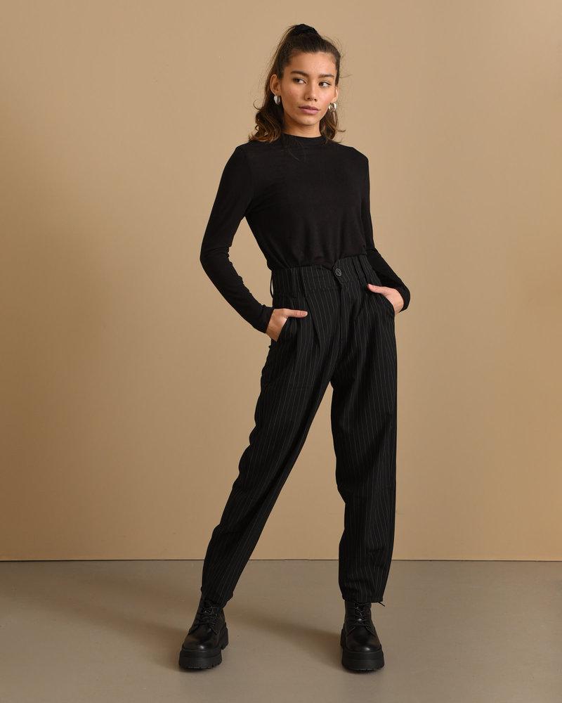 Trouser Pinstripe Black