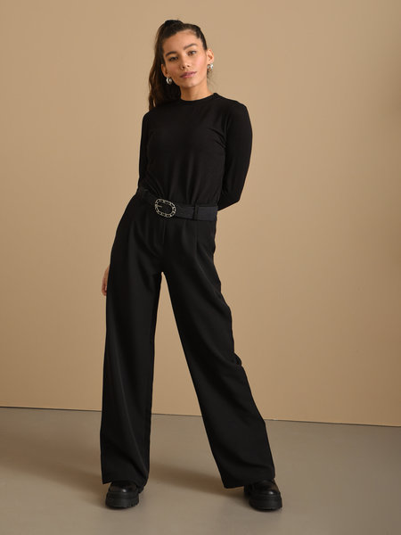 Things I Like Things I Love TILTIL Wanda Wide Pantalon Black