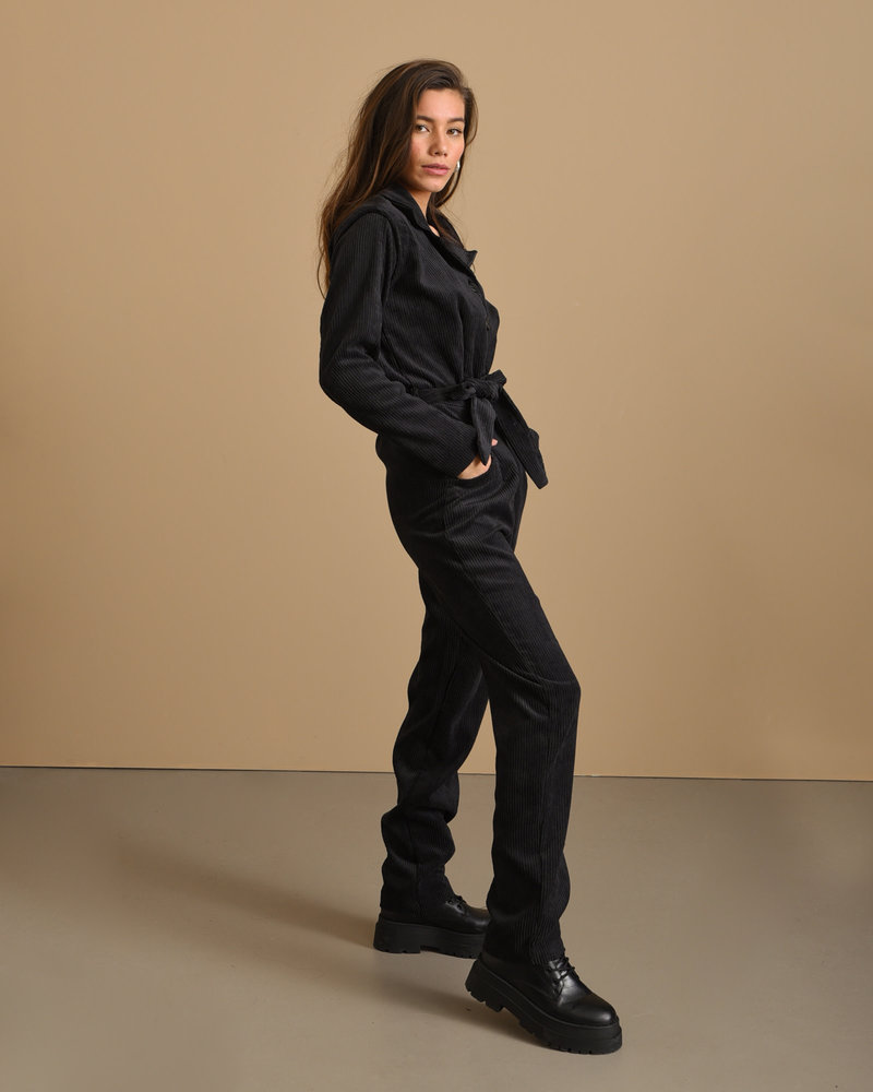 TILTIL Terry Rib Jumpsuit Black