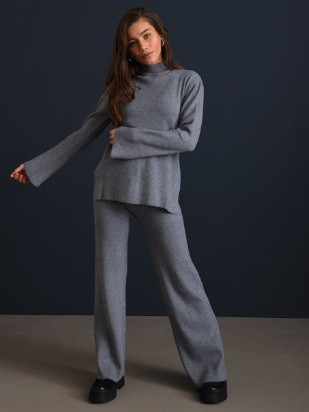 Rut & Circle Maja Knit Pant Grey Melange