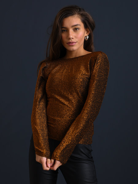 Things I Like Things I Love TILTIL Lana Glitter Longsleeve Copper