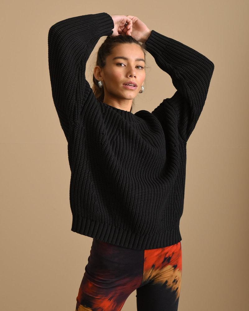 Abigail Knit Pullover Black