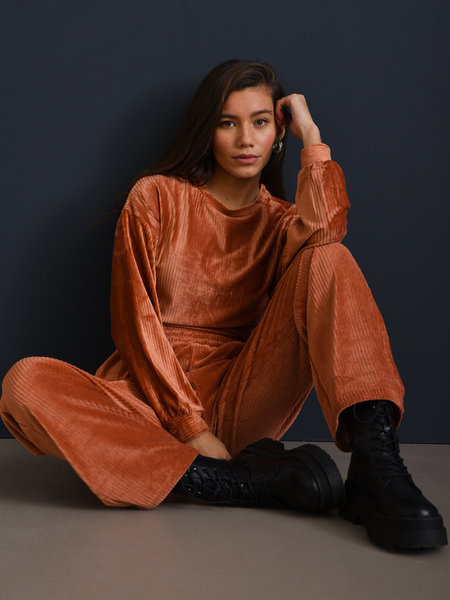 Louise Velvet Pants Rust