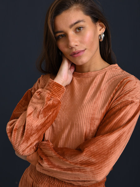Louise Velvet Sweater Rust