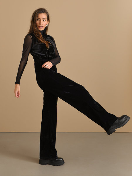 Things I Like Things I Love TILTIL Luna Velvet Trousers Black