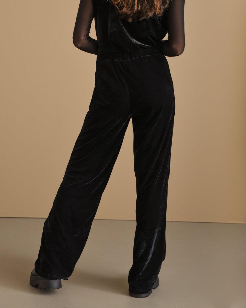 TILTIL Luna Velvet Trousers Black