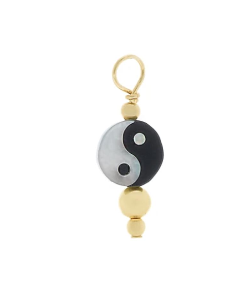 Earring Charm Yin Yang Goldfilled