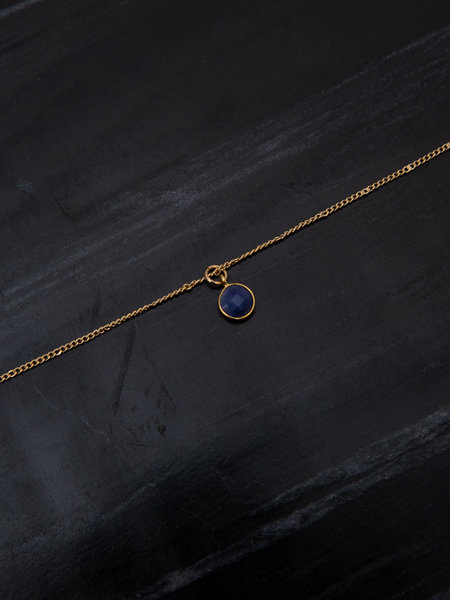 Ess Yello Necklace Dot Blue Gold