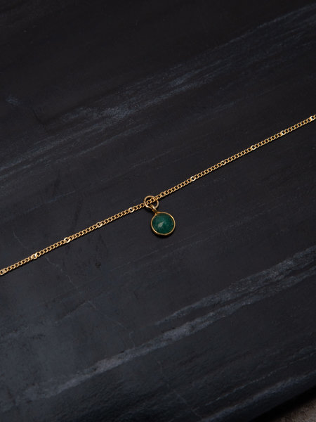 Ess Yello Necklace Dot Green Gold