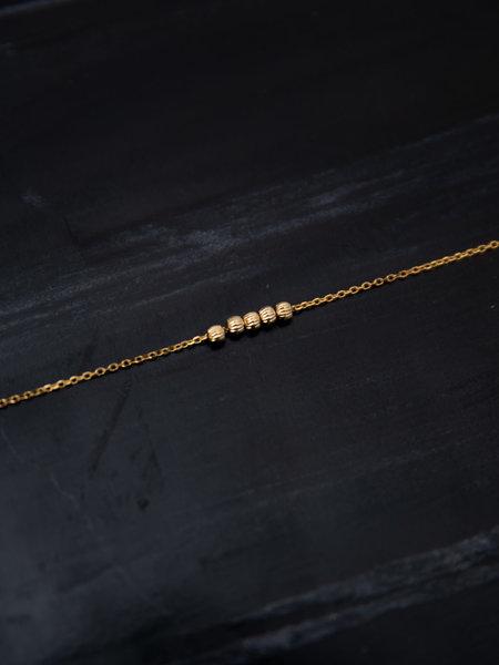 Ess Yello Stripebeads Bracelet Gold