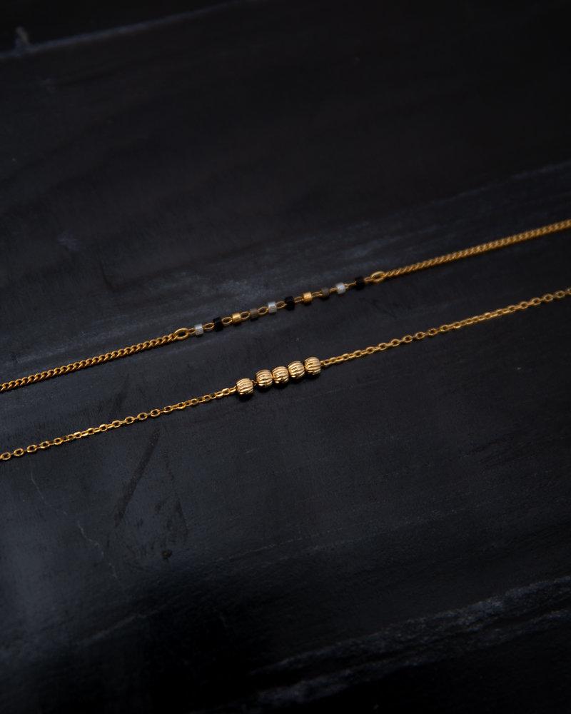 Stripebeads Bracelet Gold