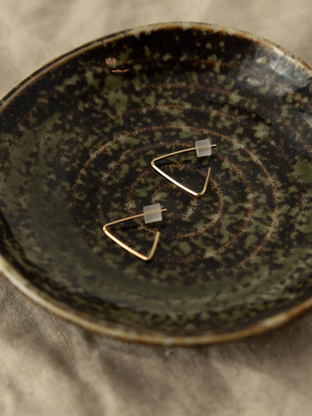 The Two Collectors Goldfilled Earring Triangle Hoop