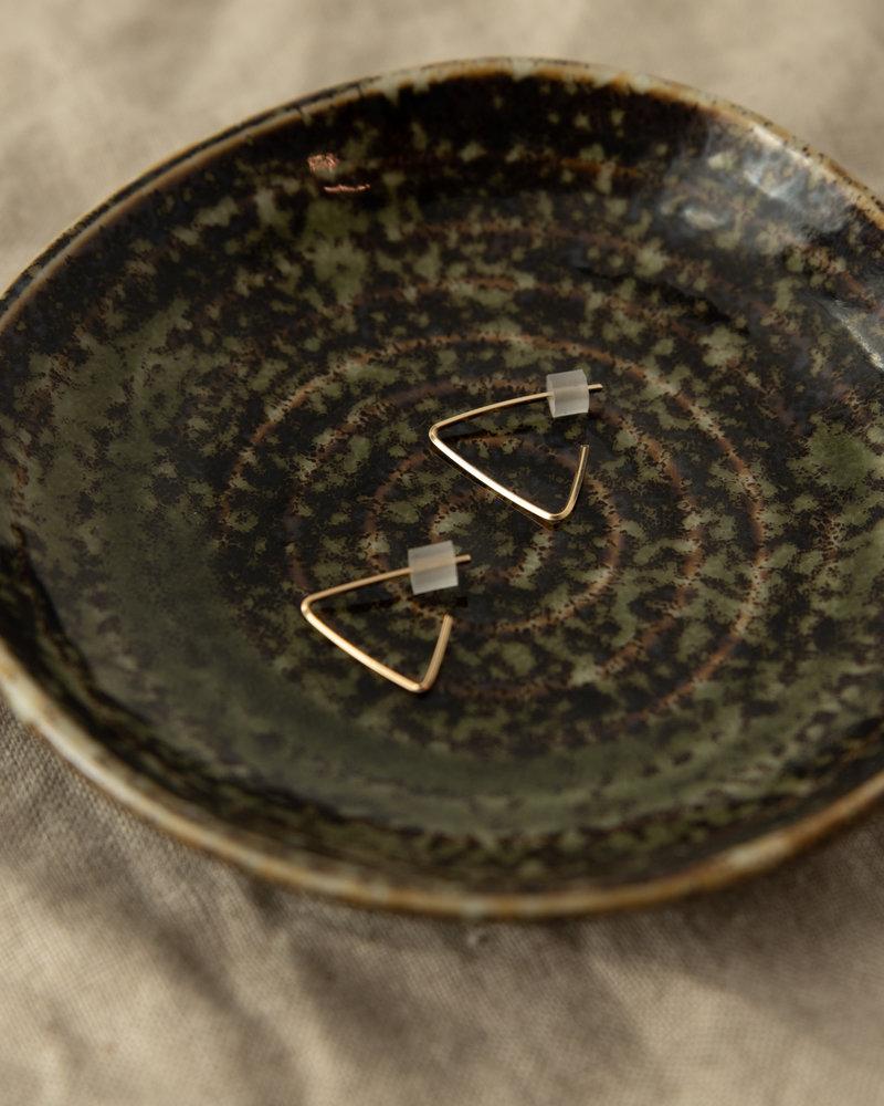 Goldfilled Earring Triangle Hoop