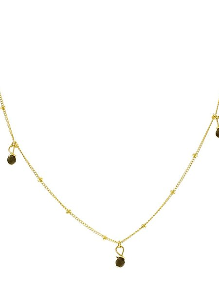 The Two Collectors Goldfilled Necklace Galaxy Three Onyx