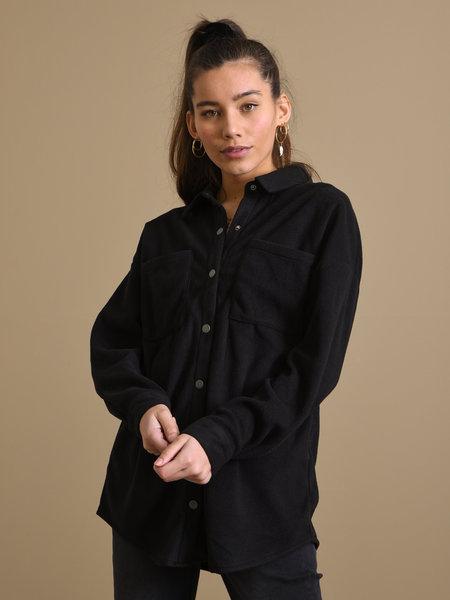 Noisy May France Fleece Shirt Black