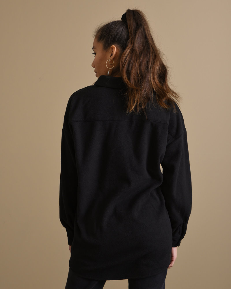 France Fleece Shirt Black
