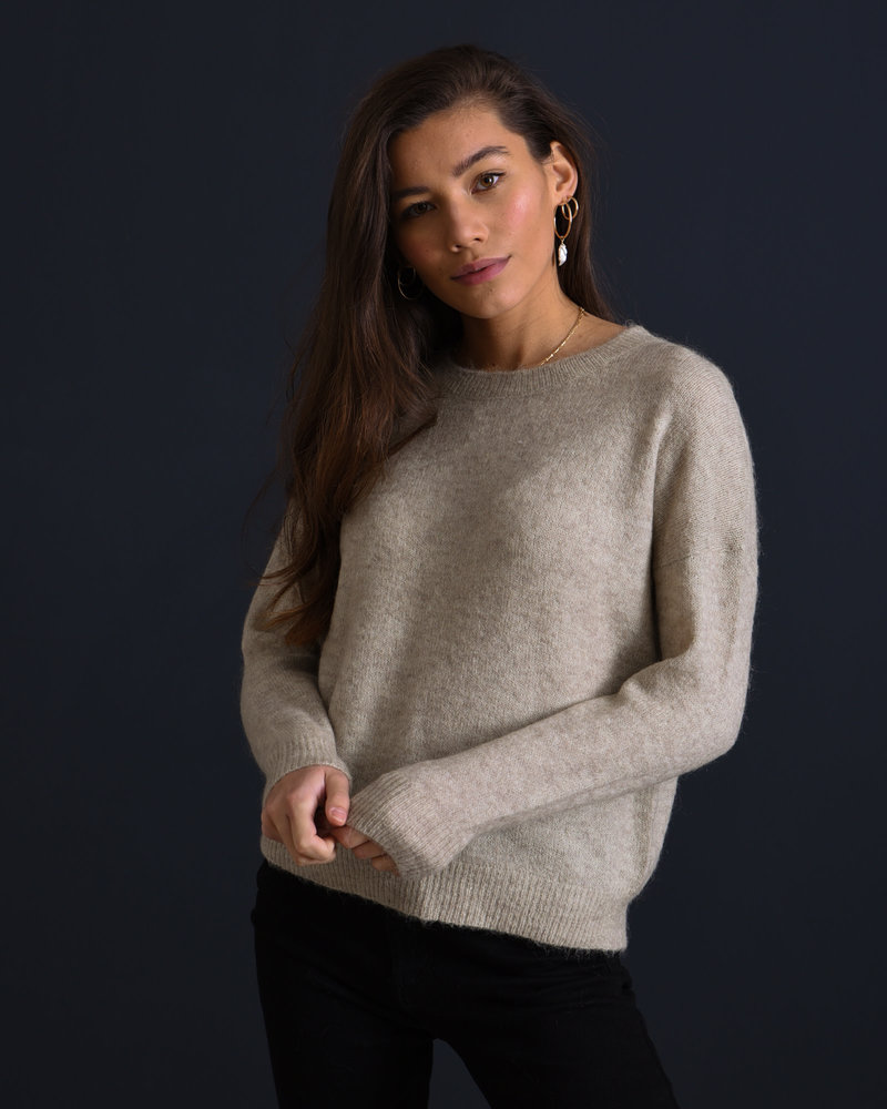 Femme Mohair O Pullover Oatmeal