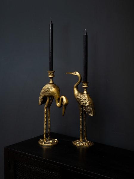 Candle Holder Gold Crane