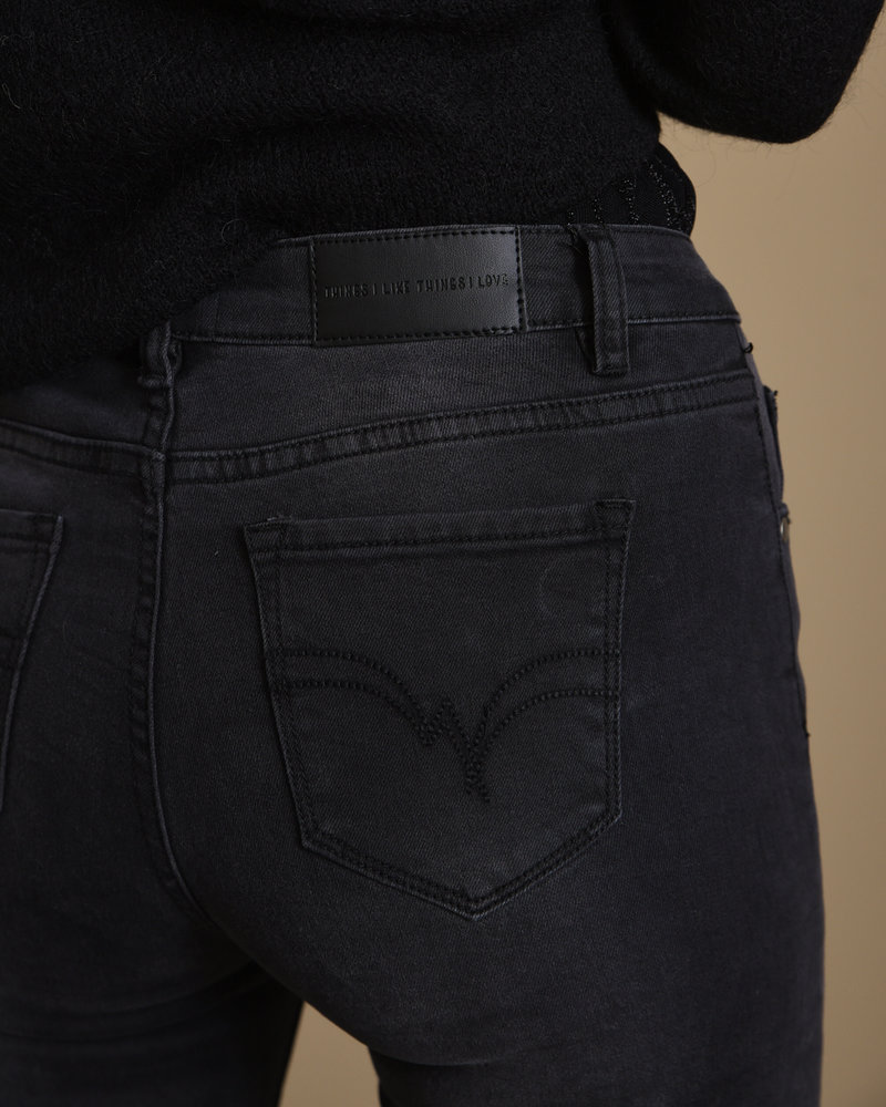 TILTIL High Waist Flared Jeans Off Black