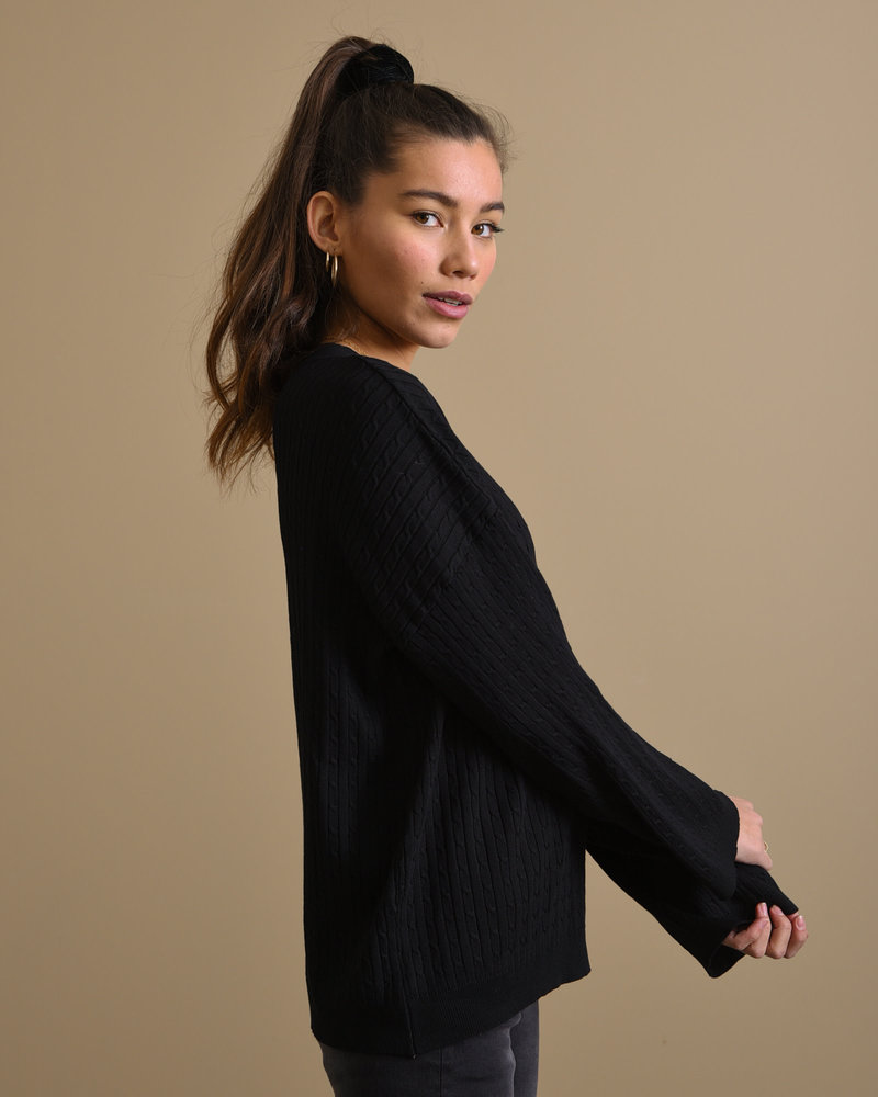 TILTIL Sofia Cable Knit Black