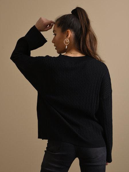 Things I Like Things I Love TILTIL Sofia Cable Knit Black