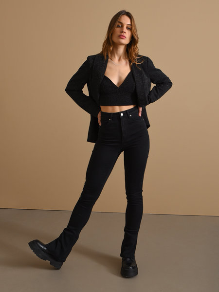 NAKD Skinny Jeans With Slit Black