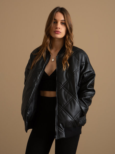 Noisy May Benny Quilted Bomber Jacket