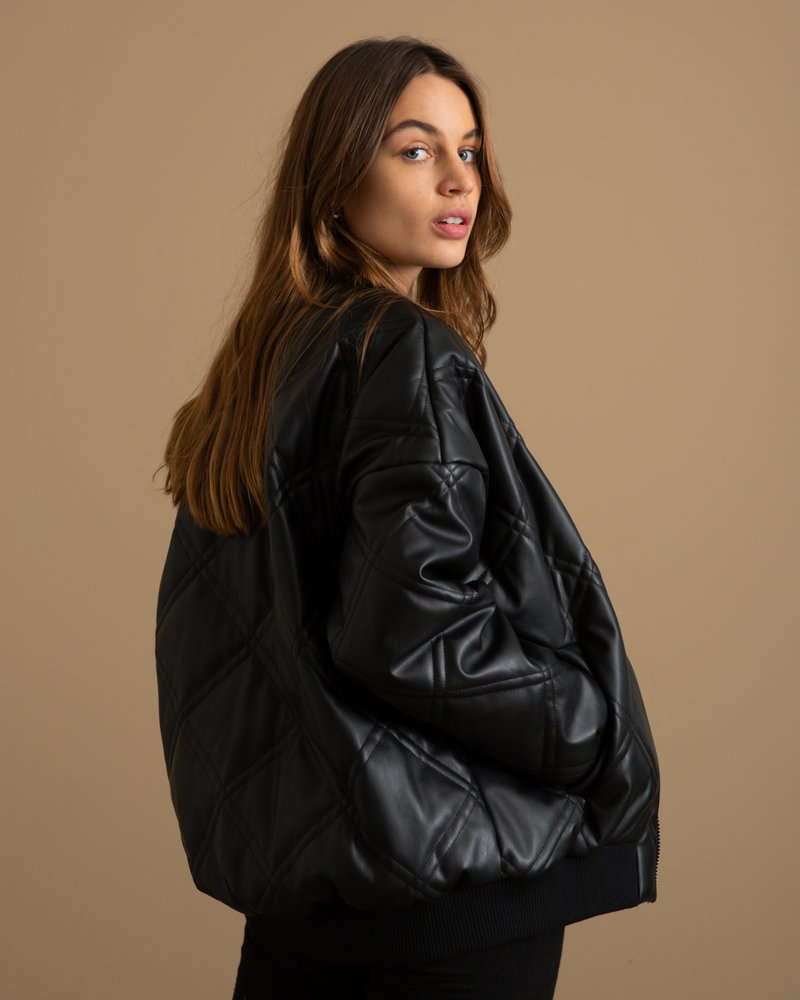 Benny Quilted Bomber Jacket