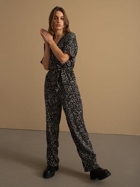 Rut & Circle Alina Jumpsuit Black/ White Dot