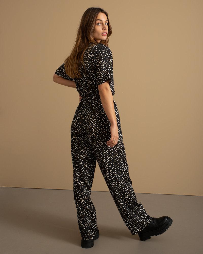 Alina Jumpsuit Black/ White Dot