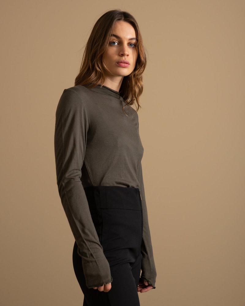 Winela Wool Top Black Olive