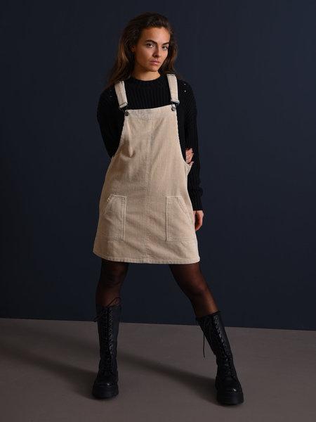 24Colours Pinafore Dress Beige