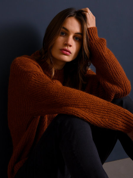 Lola Knitted Sweater Rust
