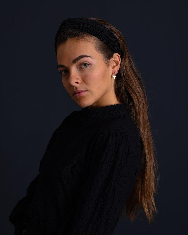 Nicole Plisse Headband Black