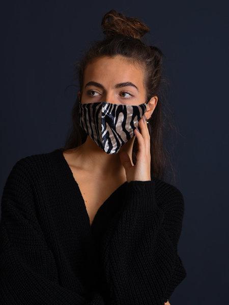 Things I Like Things I Love TILTIL Velvet Face Mask Zebra Print