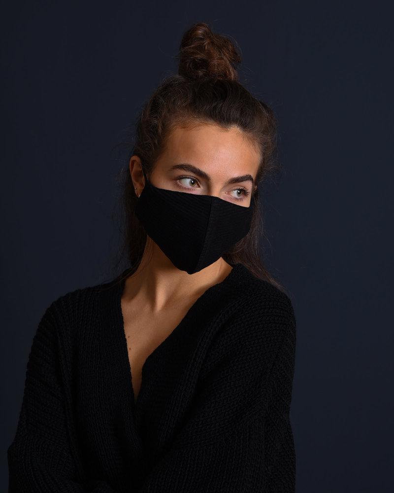 TILTIL Rib Face Mask Black