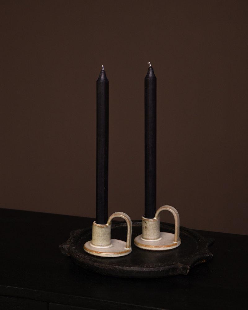 Candle Holder Green Liquen
