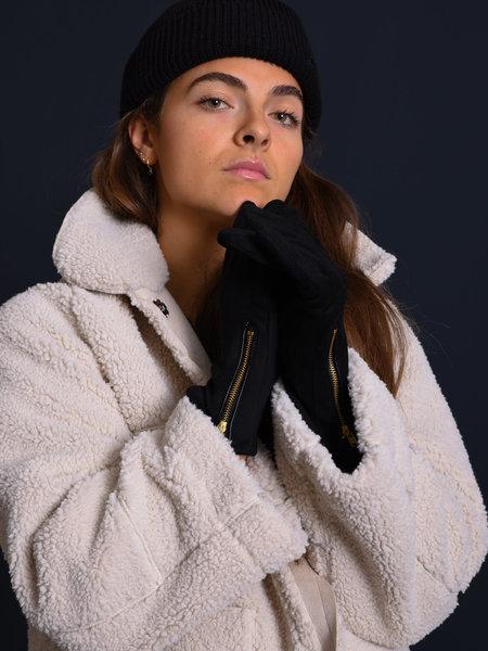 Yehwang Gloves Gold Zipper