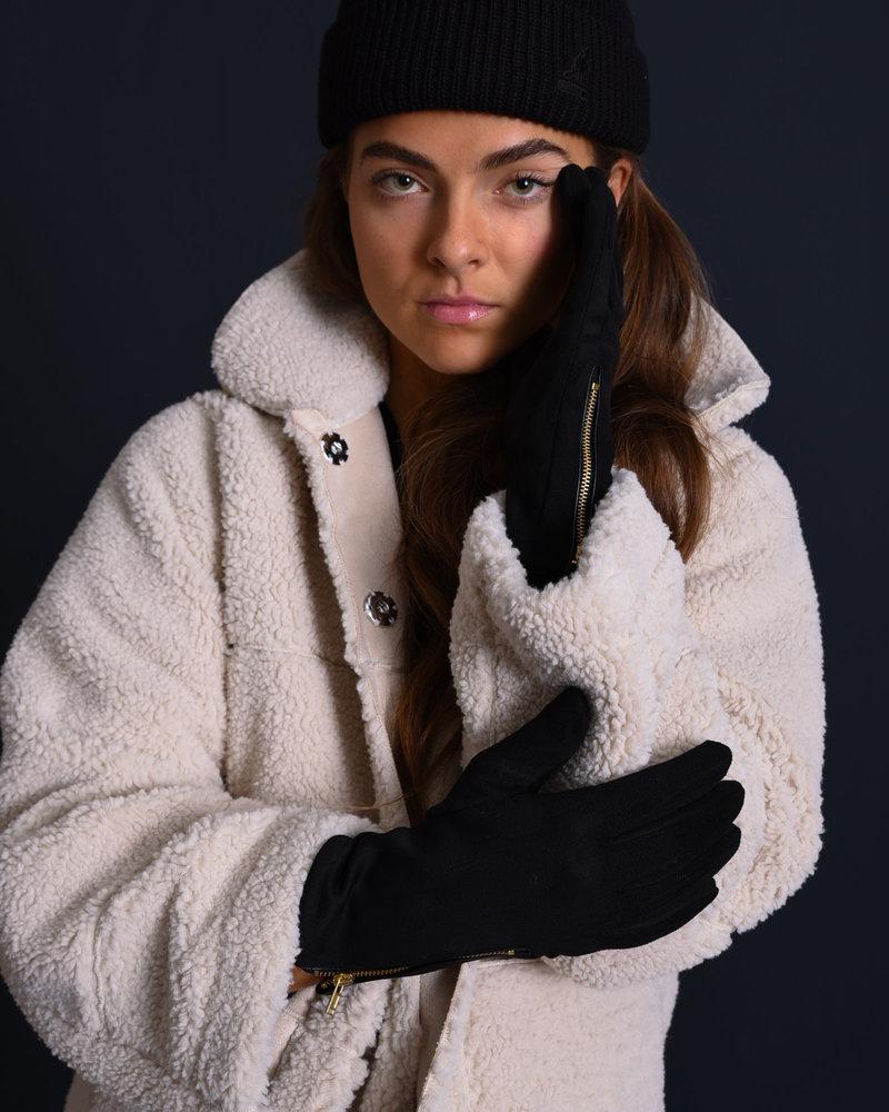 Gloves Gold Zipper