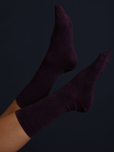 MP Denmark Glitter Socks Purple Dots
