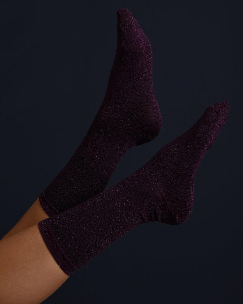 Glitter Socks Purple Dots