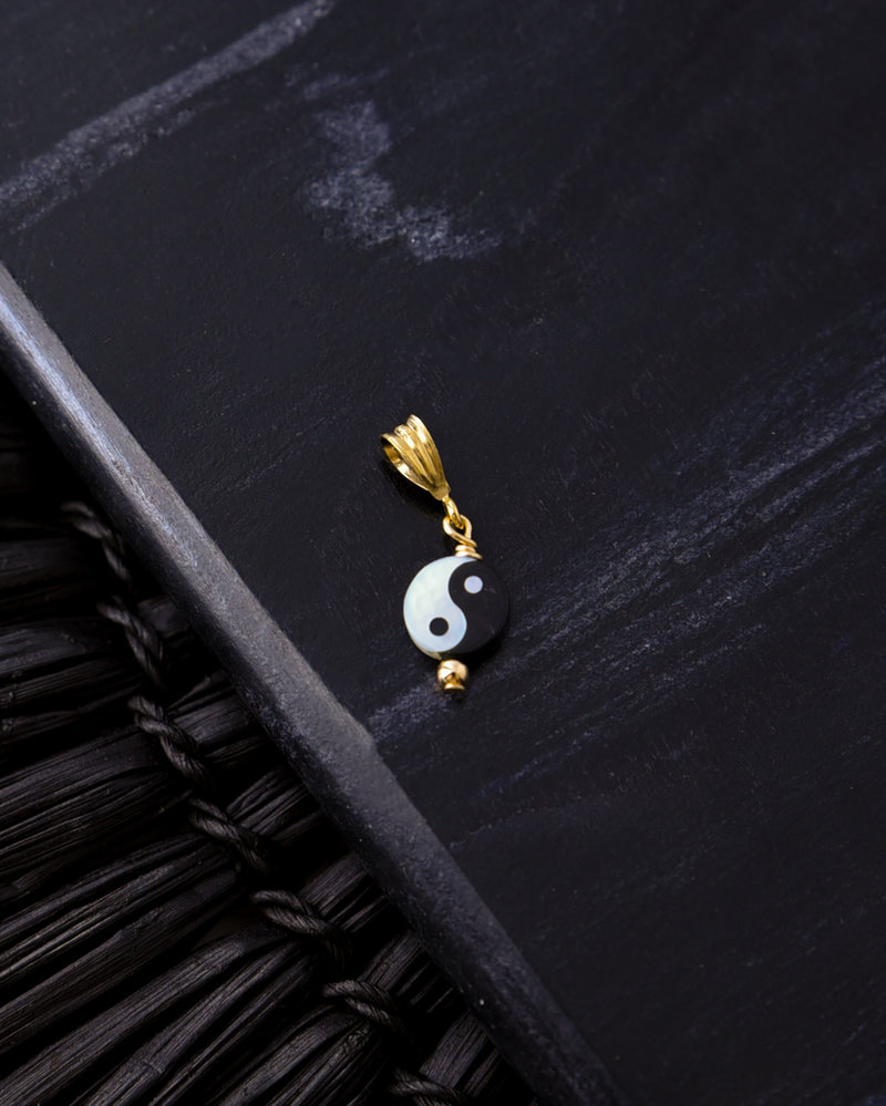 Necklace Charm Yin Yang Goldfilled