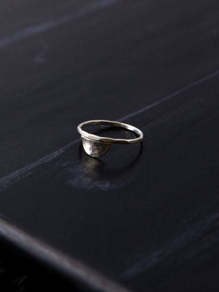The Two Collectors Crescent Moon Ring Silver