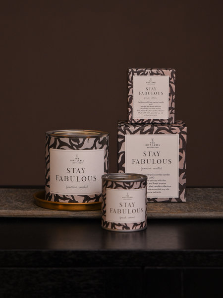 The Giftlabel Stay Fabulous Candle Jasmin Vanilla