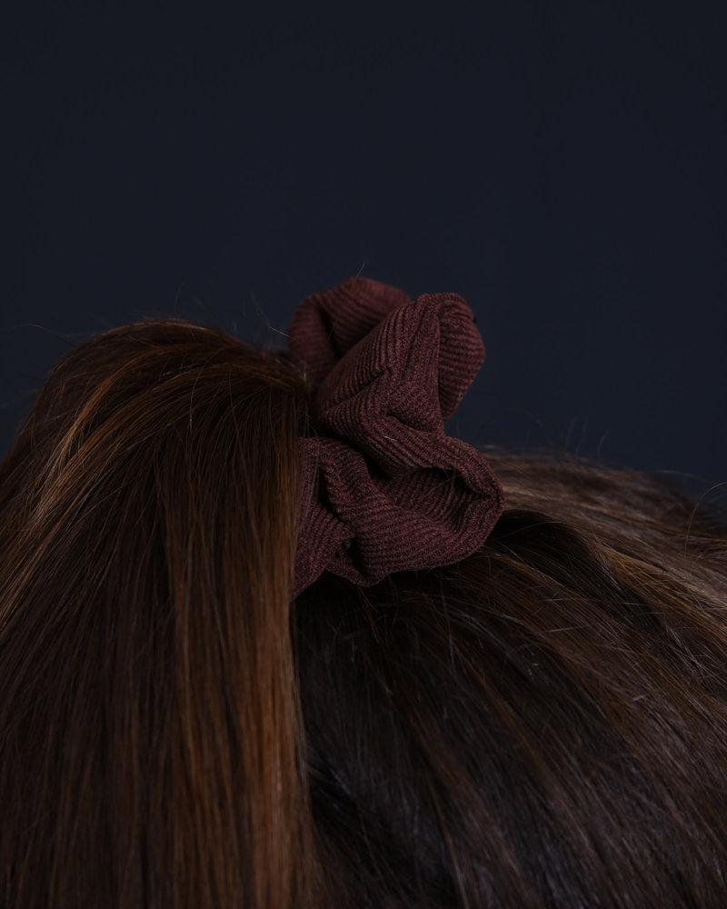 Scrunchie Corduroy Dark Brown