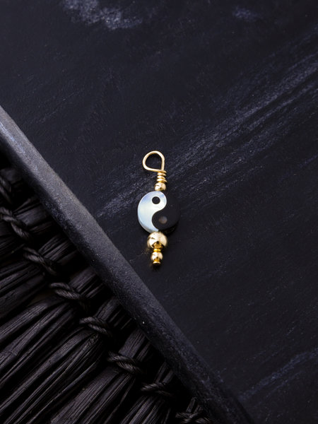 The Two Collectors Charm Yin Yang Goldfilled