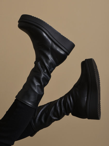 Vagabond Tara Leather Sock Boots Black