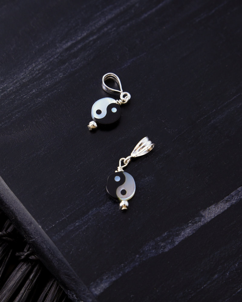 Silver Necklace Charm Yin Yang
