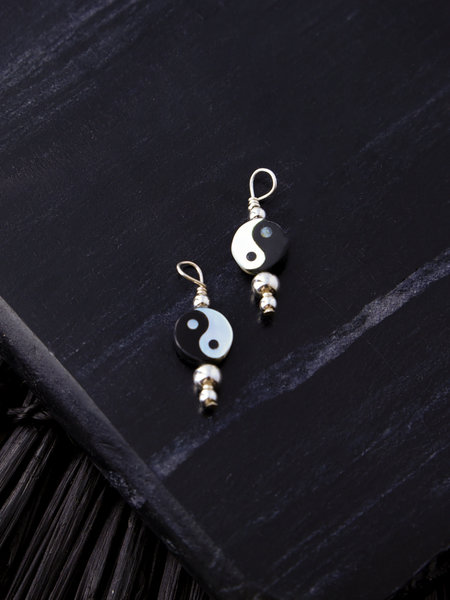 The Two Collectors Earring Charm Yin Yang Silver